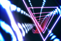Trójboka projekt z rozjarzonym światłem Obraz Stock
