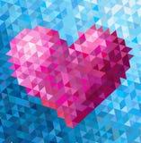 Trójboka serce Obrazy Stock