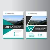 Trójboka sprawozdania rocznego ulotki broszurki ulotki szablonu Wektorowy projekt, książkowej pokrywy układu projekt, Abstrakcjon Fotografia Royalty Free