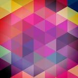 Trójboka wzór geometryczni kształty Kolorowy mozaiki tło ilustracji