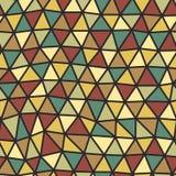 Trójboka wzór geometryczni kształty Kolorowy mozaiki tło Geometrycznego modnisia retro tło, umieszcza twój tekst na wierzchołku ilustracja wektor