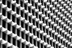 Trójboka wzór geometryczny architektura Szczegóły Cementowy budynek nowoczesna ściany Poligonalna struktura i linia czarny white obraz royalty free