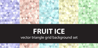 Trójboka wzoru owoc ustalony lód Wektorowy bezszwowy geometryczny backgr ilustracji