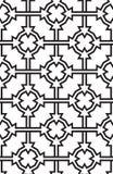 Trójboki i okręgi, czarny i biały abstrakcjonistyczny bezszwowy Ilustracji