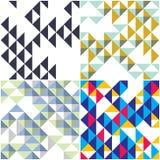 Trójboki i ukośników geometryczni abstrakcjonistyczni modni bezszwowi wzory Zdjęcia Royalty Free