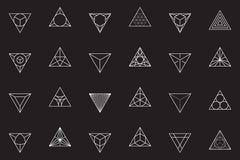 Trójboki, ikona set Obrazy Royalty Free