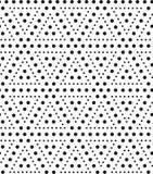 Trójboki kropki, czarny i biały abstrakcjonistyczny geometryczny morze Ilustracji