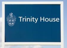 Trójca domu znak - latarnia morska Obraz Stock