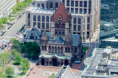 Trójca kościół i Copley kwadrat, obraz royalty free