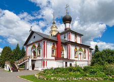 Trójca kościół Novo-Golutvin kobiety klasztor Obraz Stock