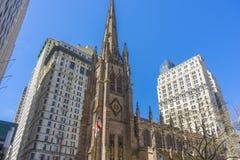 Trójca kościół w Manhattan, Nowy Jork, usa zdjęcia royalty free