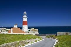 Trójcy Domowa latarnia morska w Gibraltar punktu Europa Obrazy Stock