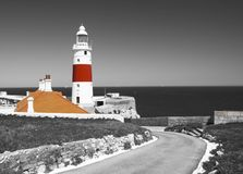 Trójcy Domowa latarnia morska w Gibraltar punktu Europa Obraz Stock