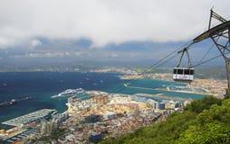 Trójcy Domowa latarnia morska w Gibraltar punktu Europa Obraz Royalty Free