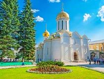 Trójcy katedra St Sergius Lavra w Sergiyev Posada Obrazy Stock