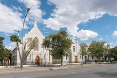 Trójcy kościół metodystów, sala i probostwo w Graaff Reinet, Fotografia Royalty Free