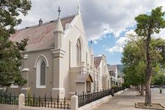 Trójcy kościół metodystów, sala i probostwo w Graaff Reinet, Obraz Stock