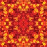 Trójgraniasta mozaiki pomarańcze BackgroundÂŒ royalty ilustracja