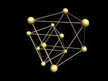 Trójgraniaste cząsteczkowe struktury. Fotografia Stock