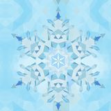 Trójgraniasty abstrakcjonistyczny geometryczny płatek śniegu nad trójgraniastym tłem wzór Obraz Royalty Free