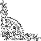 trójgraniasty czarny narożnikowy ornament Obraz Stock