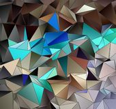 Trójgraniasty 3d, nowożytny tło Fotografia Royalty Free