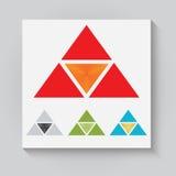 Trójgraniasty logo ilustracja wektor