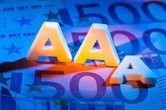Trójka - A agencja ratingowa. aaa zdjęcia stock