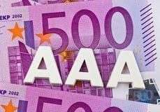 Trójka - A agencja ratingowa. aaa Zdjęcie Stock