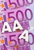 Trójka - A agencja ratingowa. aaa Obraz Royalty Free
