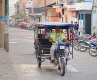 Trójkołowa Motorowy taxi, tarapoto, Peru Obrazy Stock