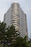 trójstronny mieszkanie własnościowe budynek w Portland, Oregon obrazy royalty free