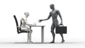 Trójwymiarowa istoty ludzkiej transakcja Zdjęcie Stock