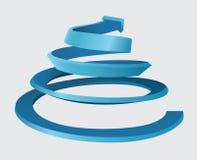 Trójwymiarowa spirala royalty ilustracja