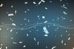 Trójwymiarowa synteza tło ilustracja wektor
