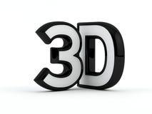 Trójwymiarowy - 3D tekst - Czarny kontur Obraz Stock