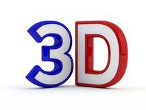 Trójwymiarowy - 3D tekst - Czarny kontur Zdjęcia Stock
