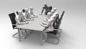Trójwymiarowy ludzki biznesowy spotkanie Obrazy Royalty Free