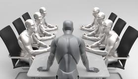 Trójwymiarowy ludzki biznesowy spotkanie Obraz Stock