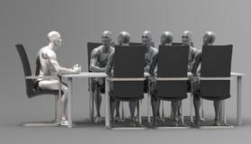 Trójwymiarowy ludzki biznesowy spotkanie Fotografia Royalty Free