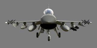 Trójwymiarowy model samolot wojskowy NATO-WSCY kraje Samolot z pełnymi amunicjami Uzbrojenie aircr Obraz Royalty Free