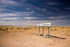 Trópico de Capricorn Imagem de Stock