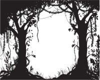 Trópico del árbol forestal stock de ilustración