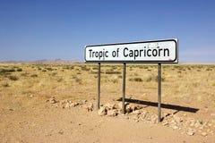 Trópico del Capricornio Fotografía de archivo