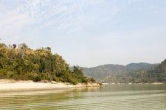 Trópicos do rio de Irrawaddy fotografia de stock