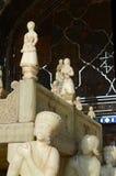 Trône de marbre Takht-e marmar (trône de marbre), palais de Golestan, Téhéran, Iran Images libres de droits