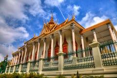 trône royal de palais de hdr de hall du Cambodge images stock