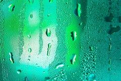 Tröpfchen auf Glas Stockbilder
