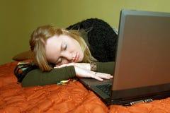 trött kvinna Royaltyfria Bilder