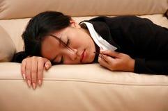 trött kvinna Arkivfoton